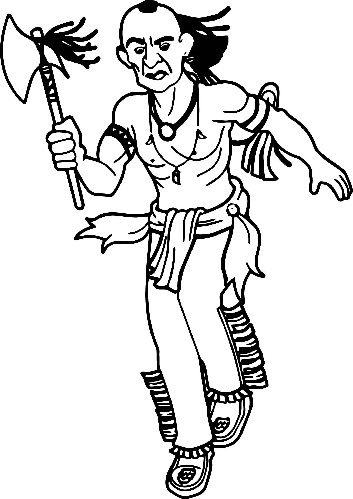 1377x1945 Inspiring Indian Coloring Pictures Boy Dressed Up Like An Page