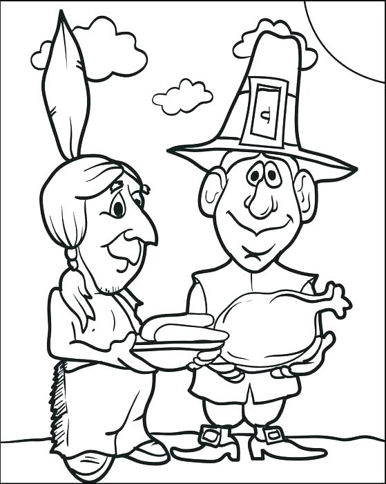 559x700 Coloring Pages Of Indians Coloring Pages Free Printable Pilgrim