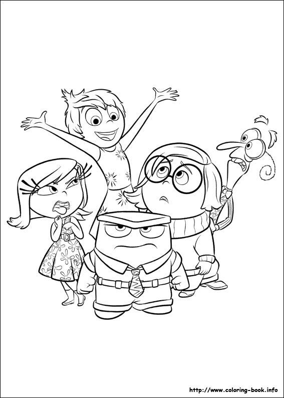 Free Inside Out Coloring Pages
