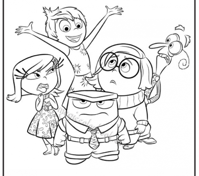 678x600 Inside Out Pictures To Color Inside Out Coloring Pages Free