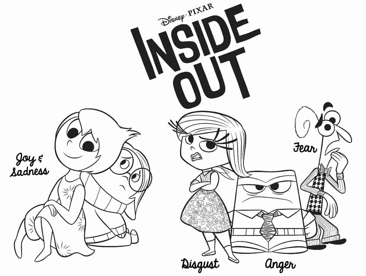 1247x941 Disney S Inside Out Coloring Pages Sheet Free Printable Fancy Fear