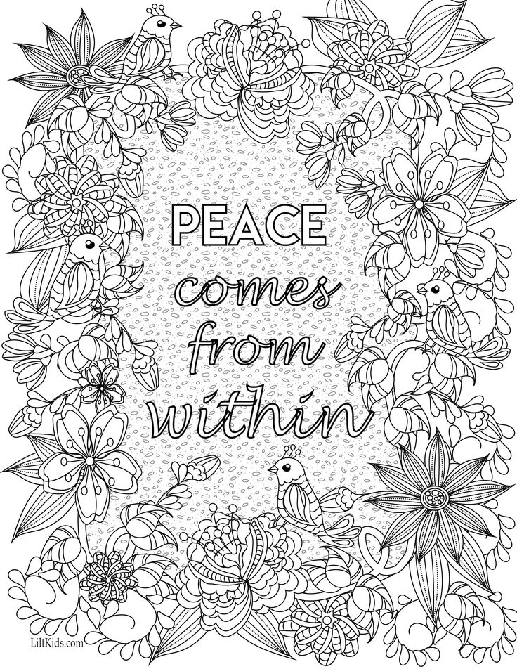 Free Inspirational Coloring Pages