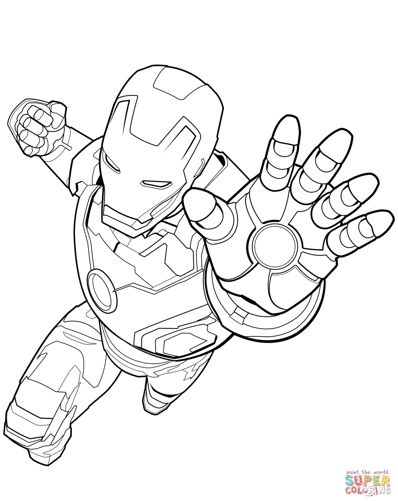 Free Iron Man Coloring Pages At GetDrawings