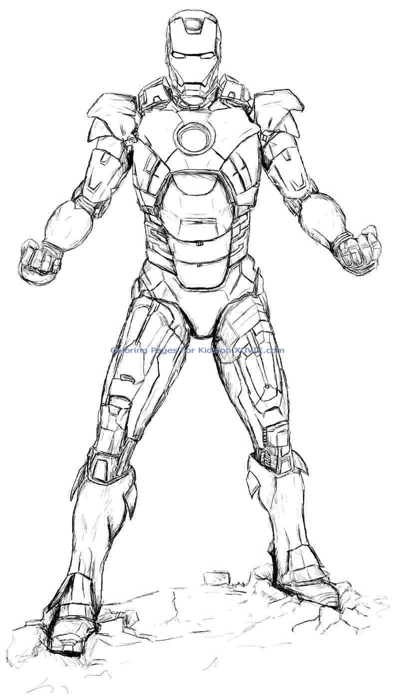 791x1402 Iron Man Coloring Pages