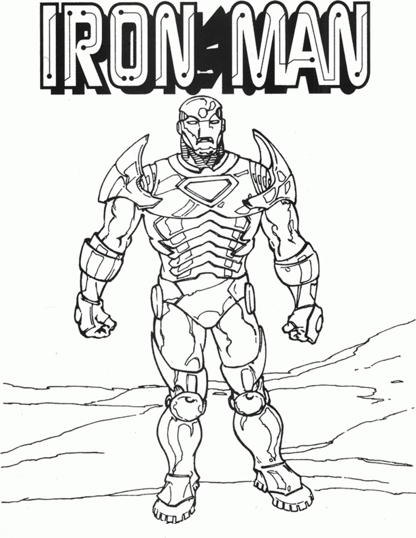 1440x1863 Iron Man Coloring Pages Gallery