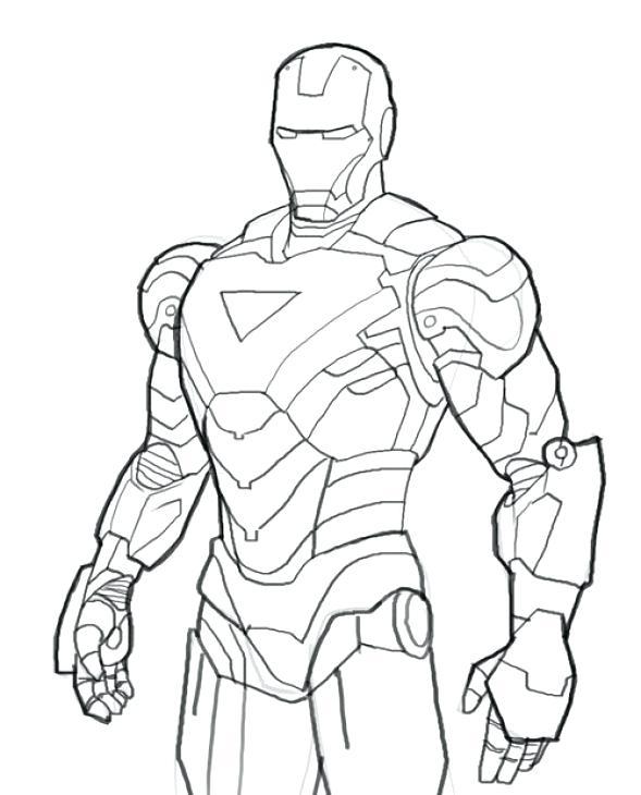 589x730 Iron Man Coloring Sheet