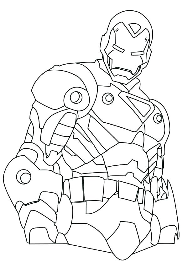 600x835 Free Iron Man Coloring Pages Page How To Draw