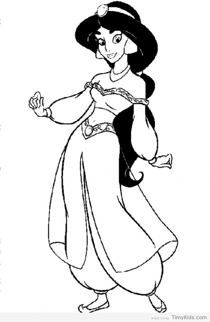 669x1024 Jasmine Coloring Pages Princess Jasmine Coloring Pages Princess