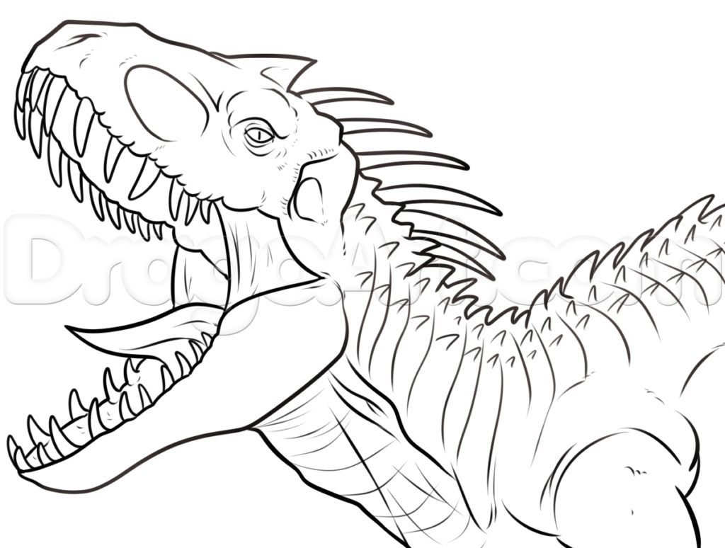 1024x774 Indominus Rex Coloring Page Pages Picturesque Design Ideas