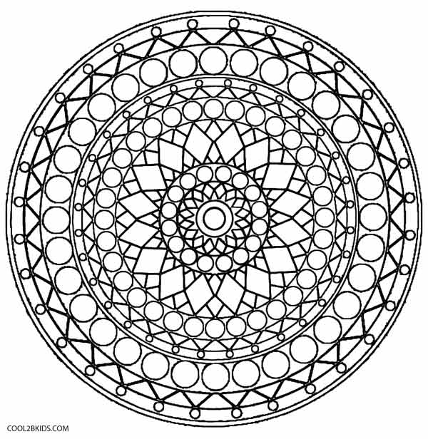 600x616 Heavenly Kaleidoscope Coloring Pages Colouring In Humorous