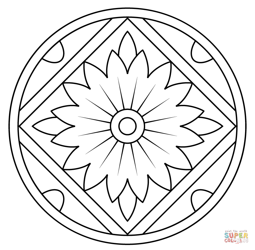 Free Kaleidoscope Coloring Pages At Getdrawings Com Free For