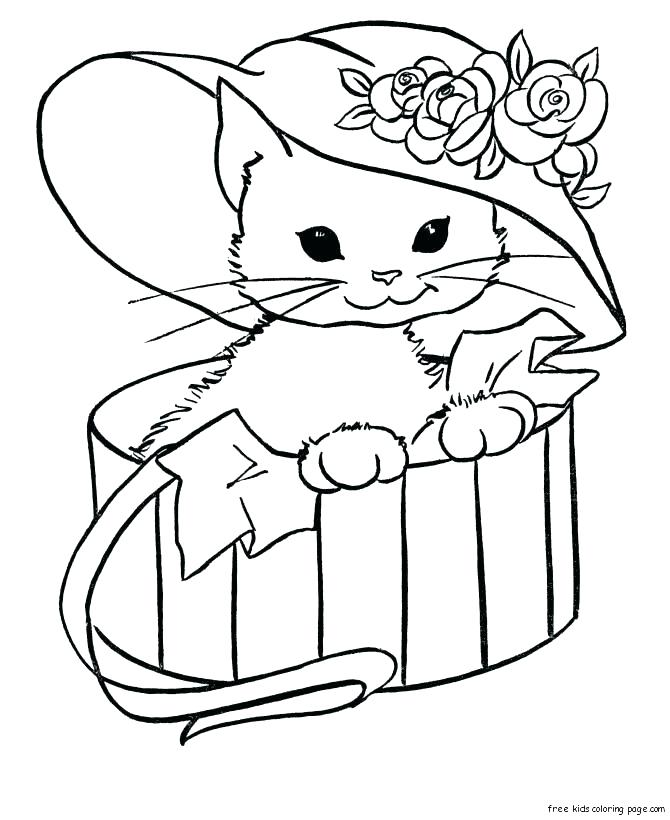 670x820 Kitty Coloring Pages Kitty Cat Coloring Pages Free Hello Kitty