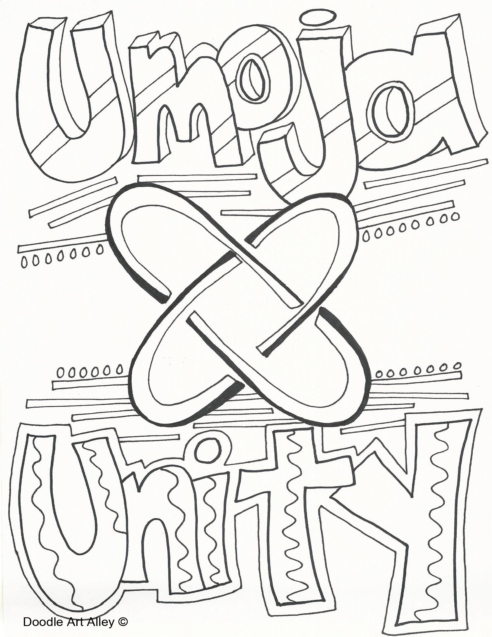 1700x2200 Kwanzaa Coloring Pages Doodle Art Alley