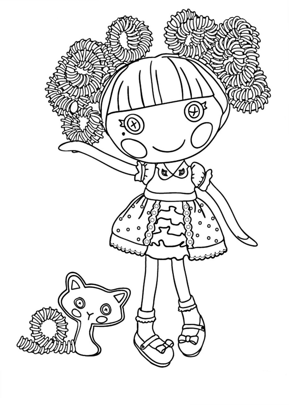 The best free Lalaloopsy coloring page images. Download from 381 ...