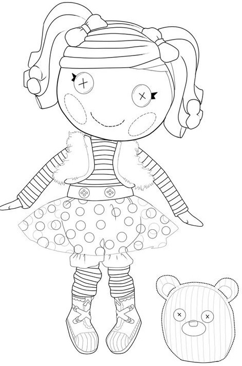 Free Lalaloopsy Coloring Pages At Getdrawings Com Free For