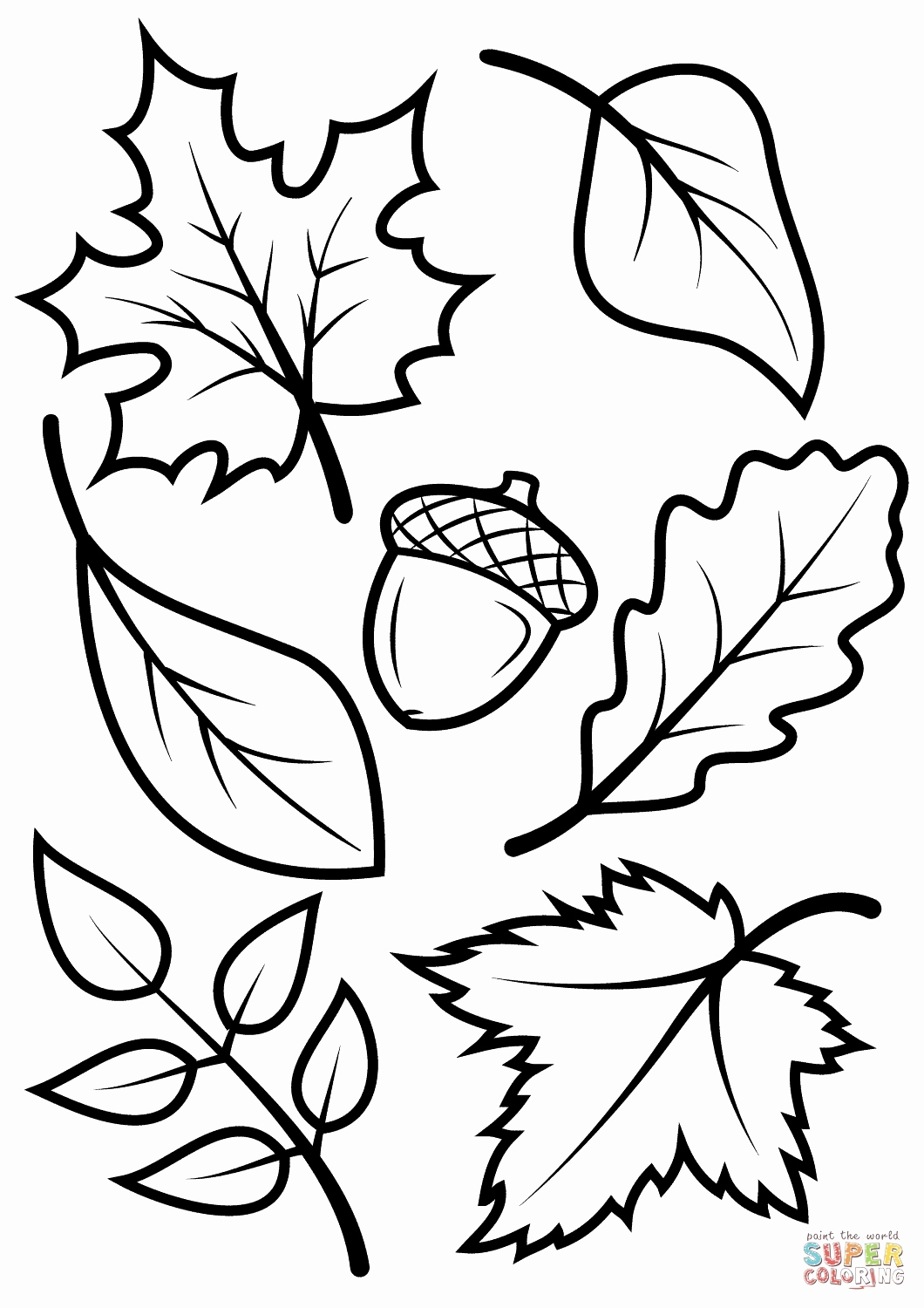 1060x1500 Fall Leaves Coloring Pages Printable Best Of Fall Leaves