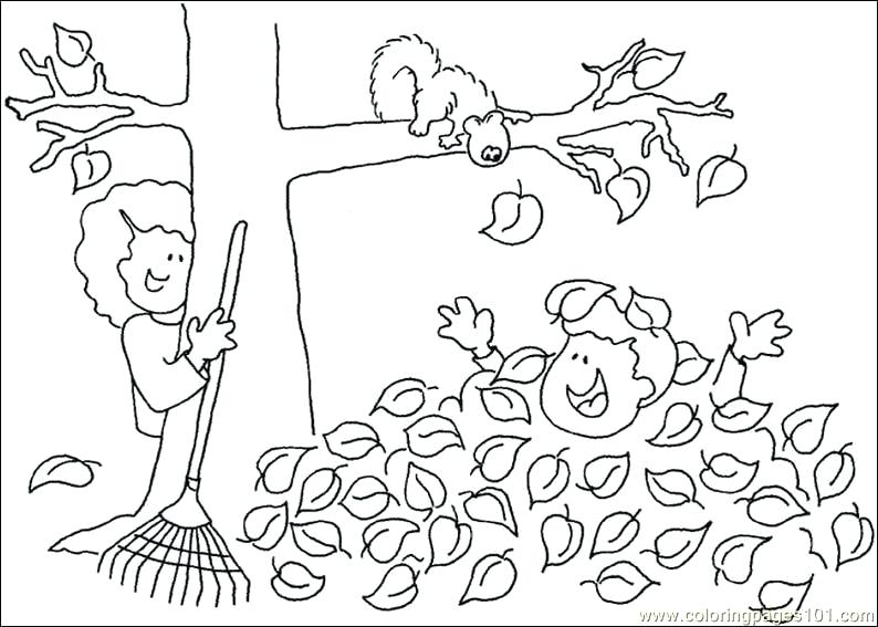 794x567 Fall Tree Leaf Coloring Page Free Autumn Pages Alphabet