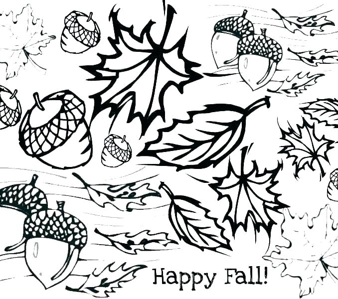 678x600 Falling Leaves Coloring Pages Free Fall Coloring Pages Printable