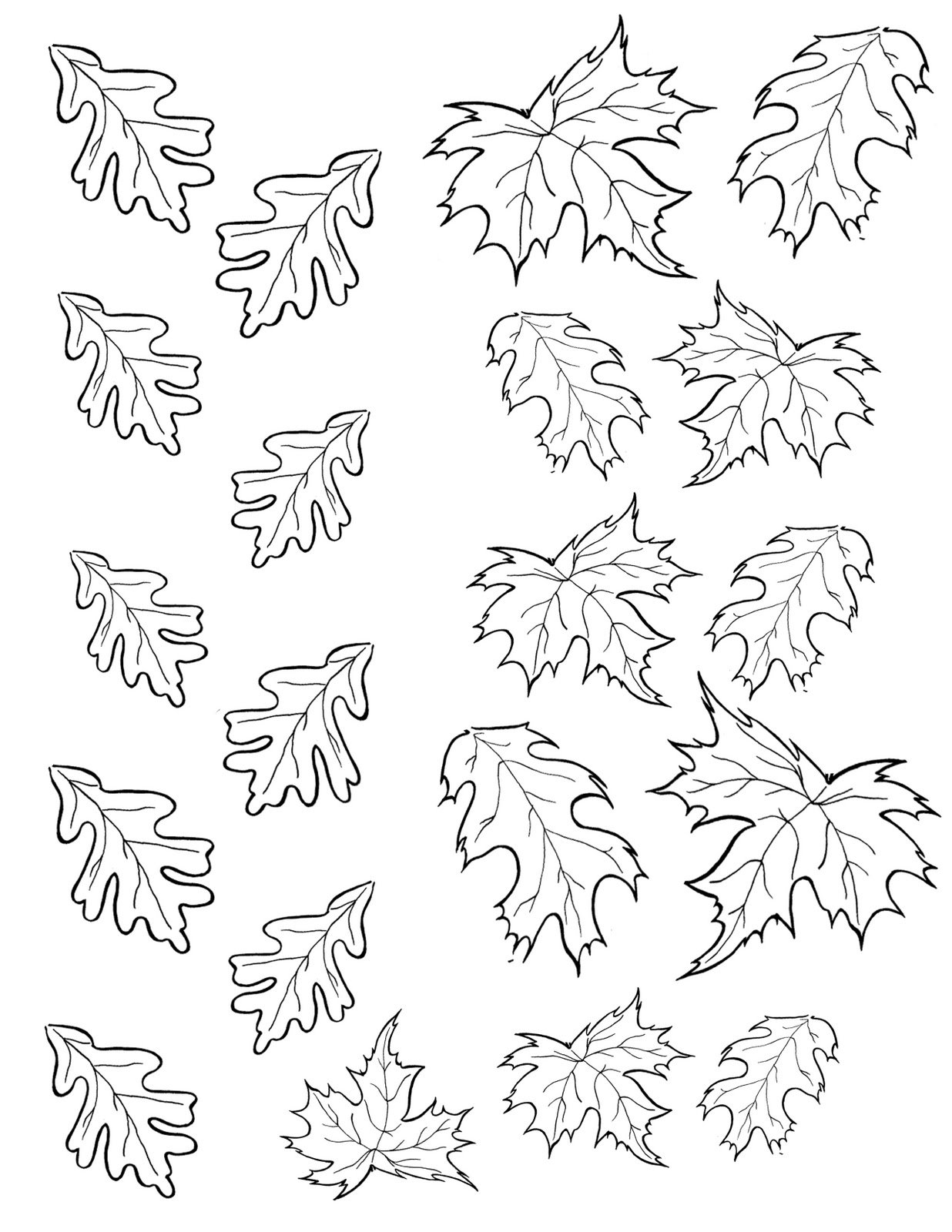 1236x1600 Printable Leaves To Color