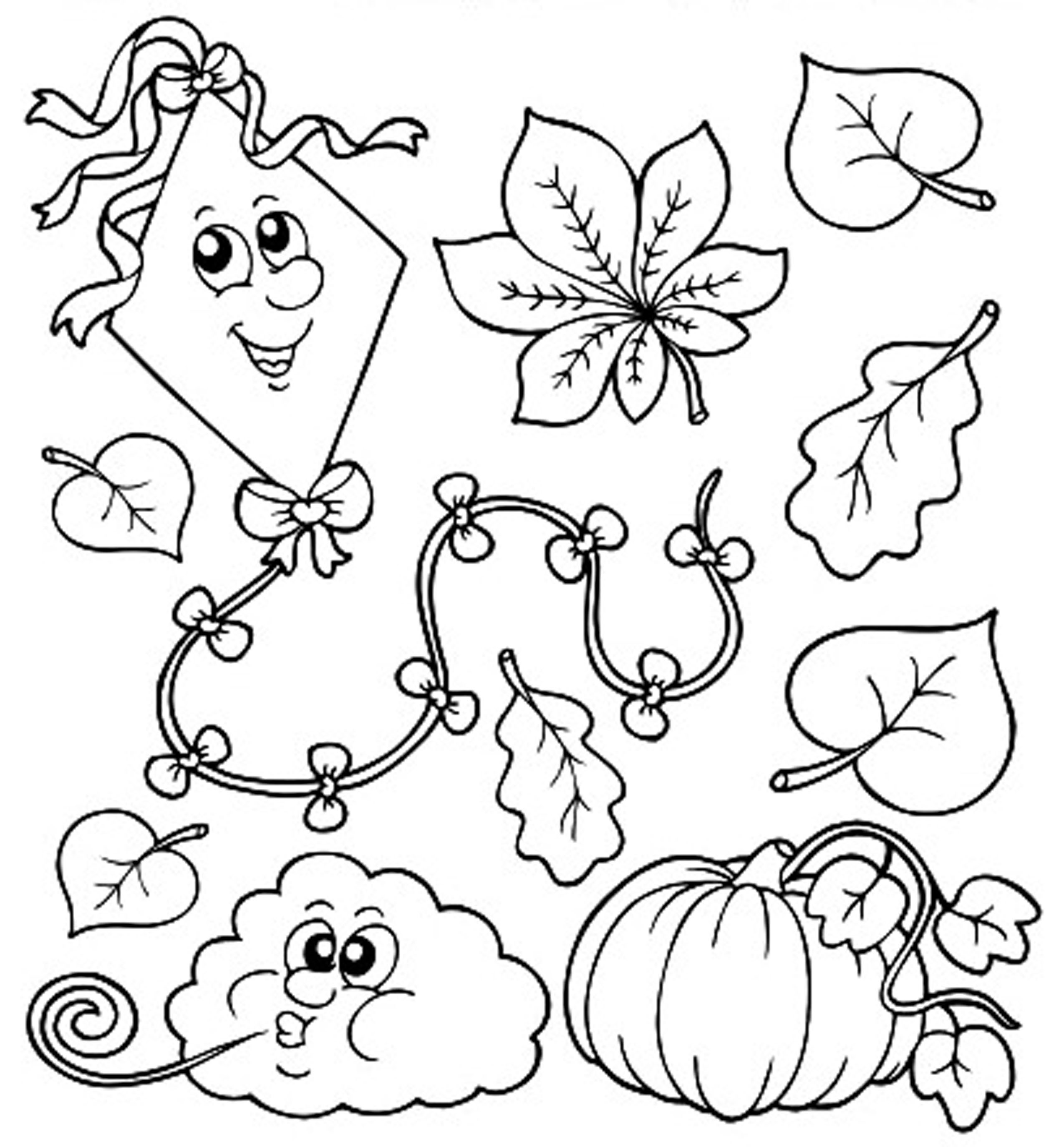 2550x2750 Season Autumn And Fall Coloring Pages For Kids