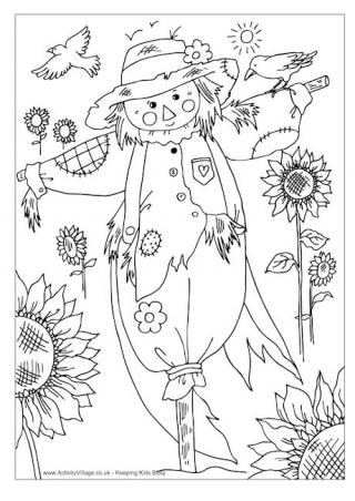 320x452 Simple Decoration Autumn Coloring Pages Free Printable Autumn