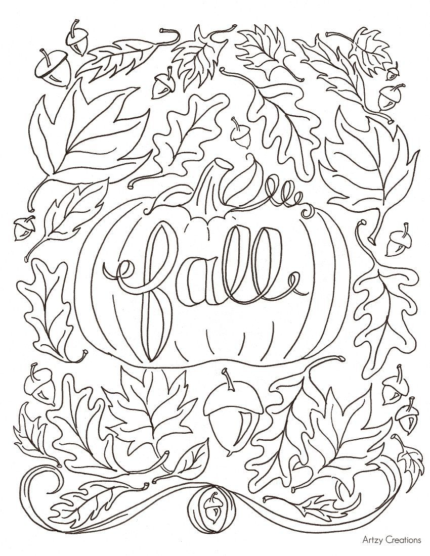 850x1100 Top Free Autumn Coloring Pages Remodel With Free Autumn