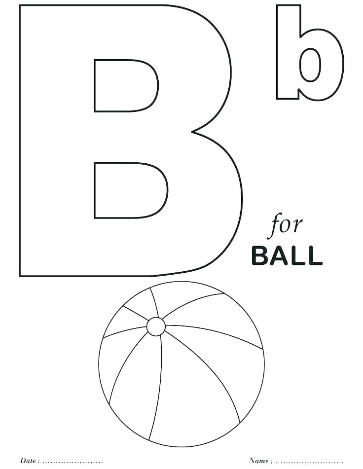 Free Letter A Coloring Pages