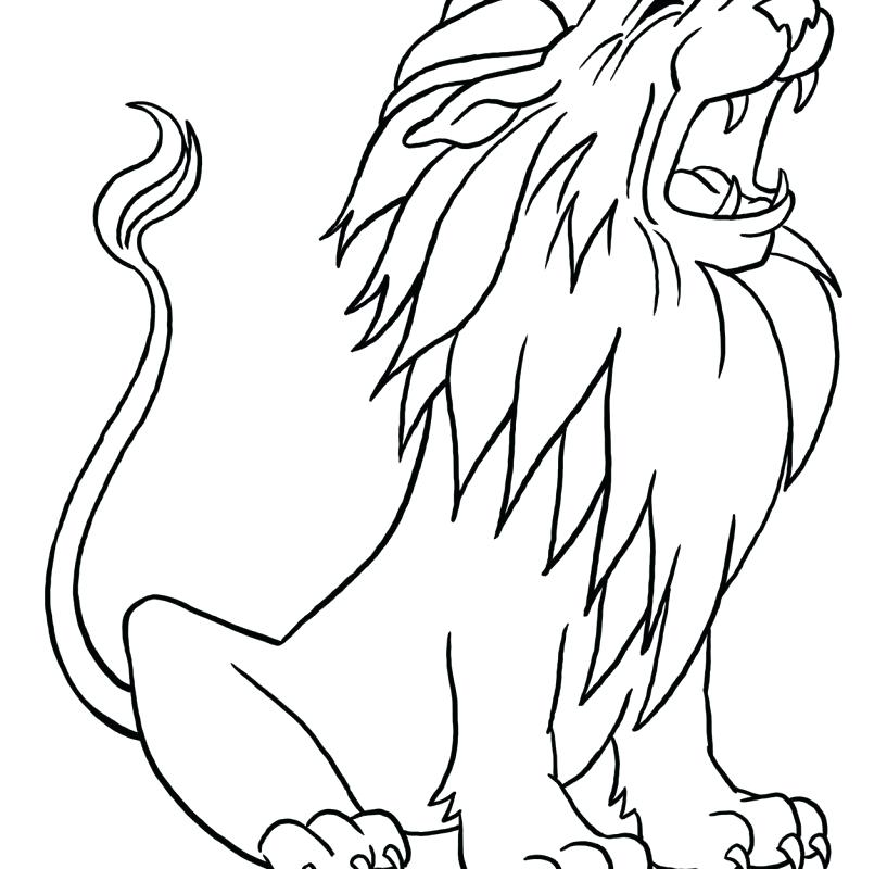 817x800 Free Printable Lion Coloring Pages Free Lion Coloring Page