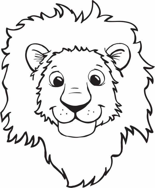 600x728 Free Coloring Pages Of Lion Face Mask My Ring