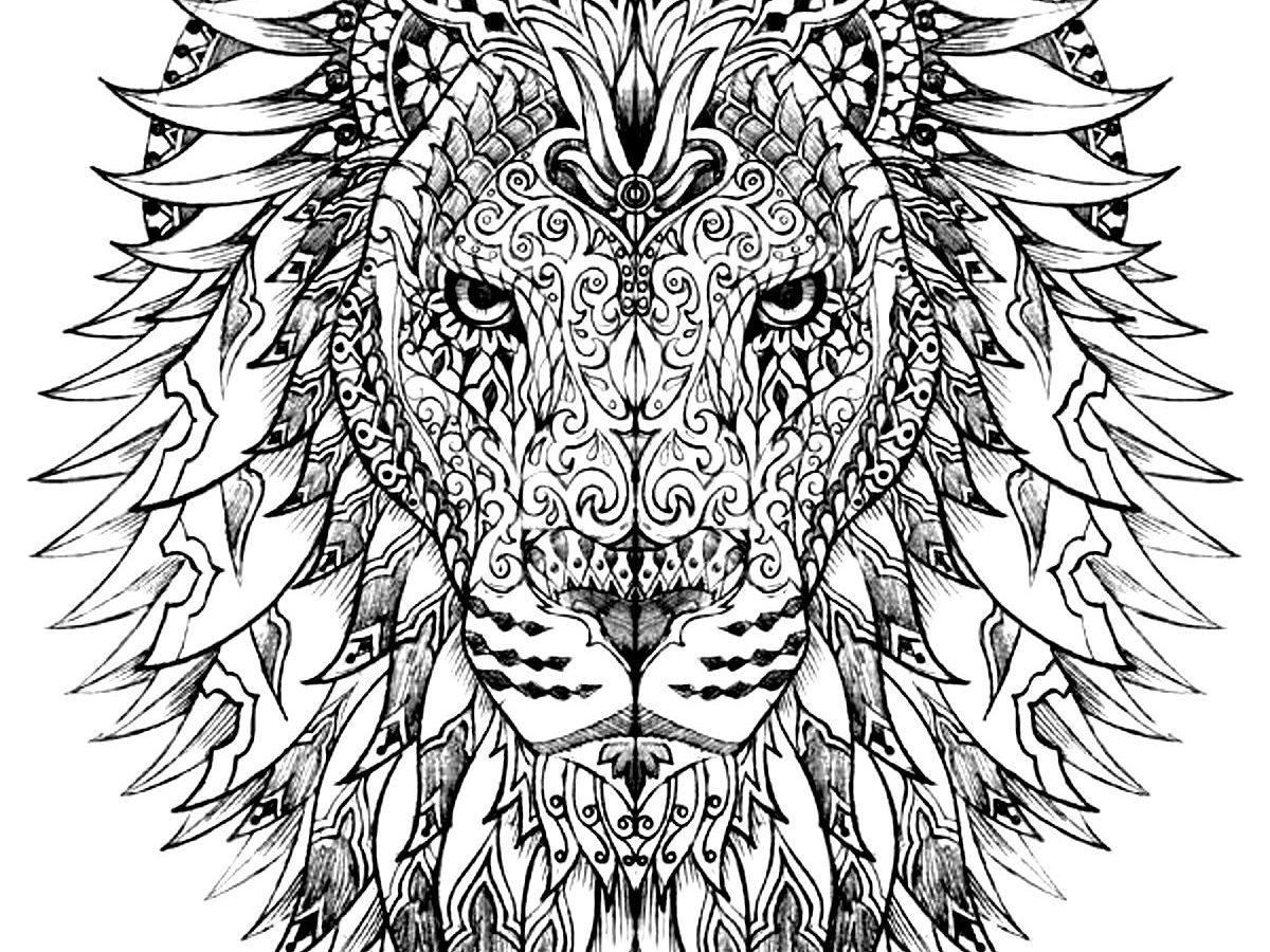 1200x900 Lion Coloring Pages Pdf Free For Adults King Head Kids Printable