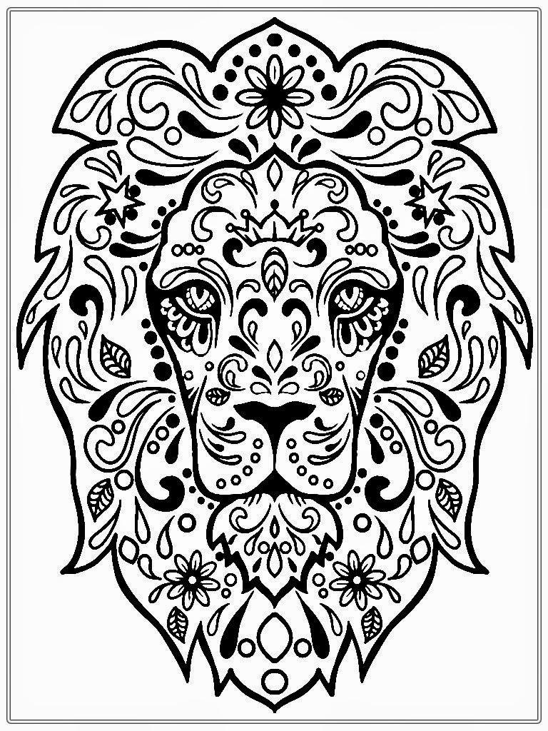 768x1024 Lion Face Coloring Pages
