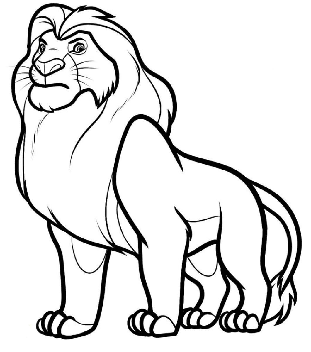 1061x1200 Luxury Lion Coloring Page In Line Drawings Free Pages Printable