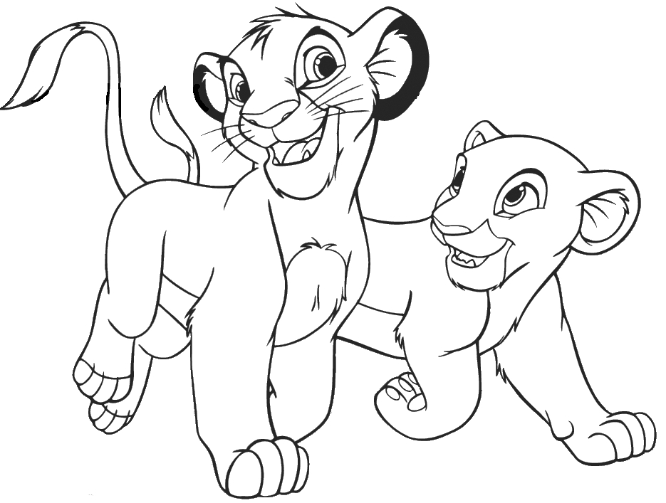 935x707 The Lion King Coloring Pages Free Download