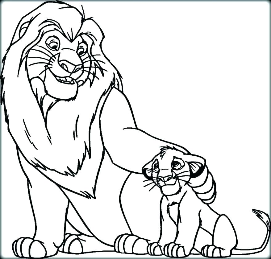 878x840 Lion King Coloring Pages