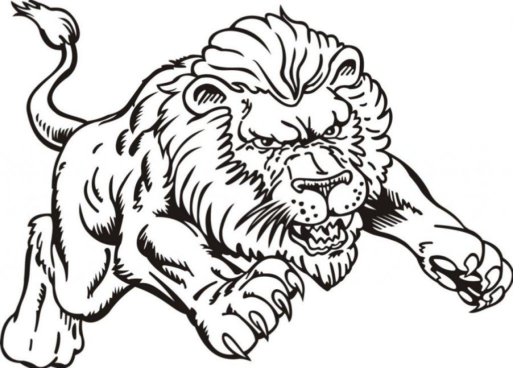 1024x734 Realistic Lion Coloring Pages Realistic Lion Coloring Pages