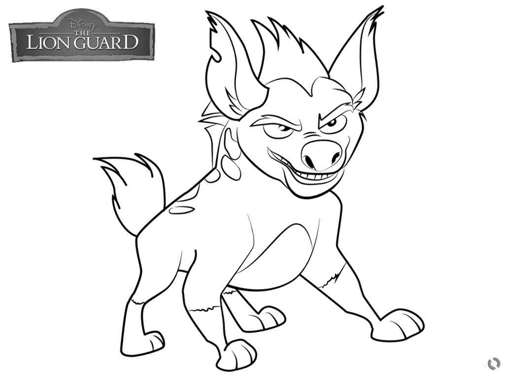 1024x760 Lion Guard Coloring Pages Janja
