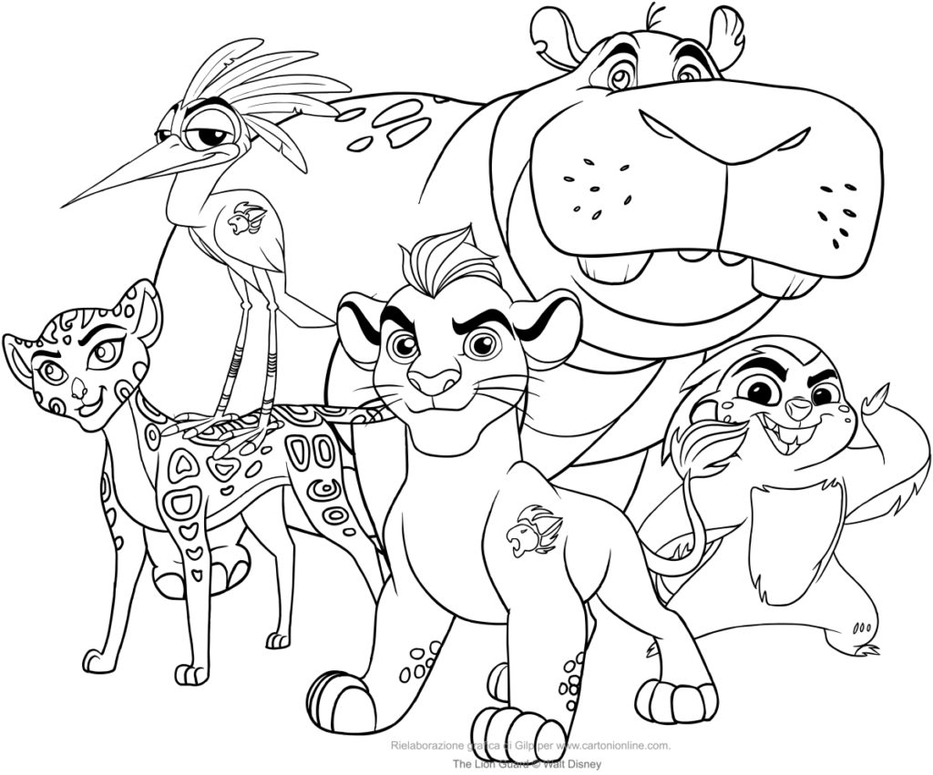 1024x851 Lion Guard Coloring Pages The Page To Print Get Bubbles