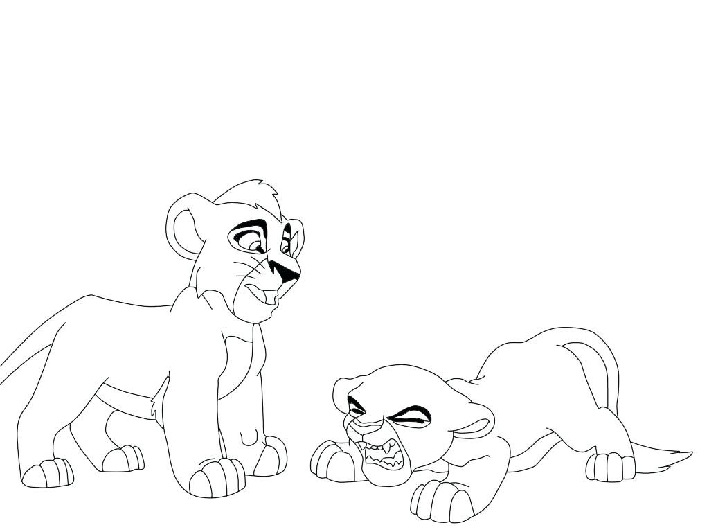 1024x768 Nala Coloring Pages Cute Little Simba Coloring Page With Nala