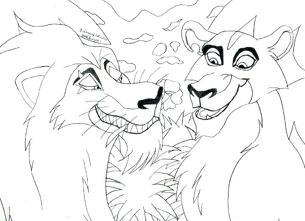 970x705 Coloring Pages Of Lions Coloring Pictures Of Lions Printable Lion