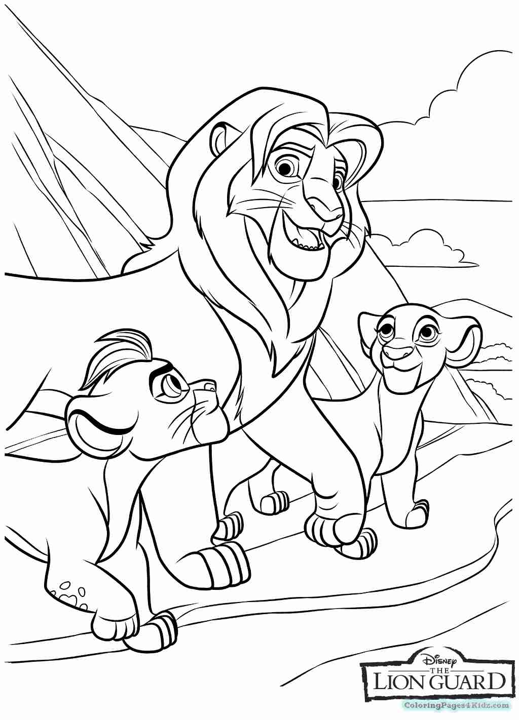 1024x1422 Coloring Pages Of The Lion Guard For Kids Tearing Olegratiy