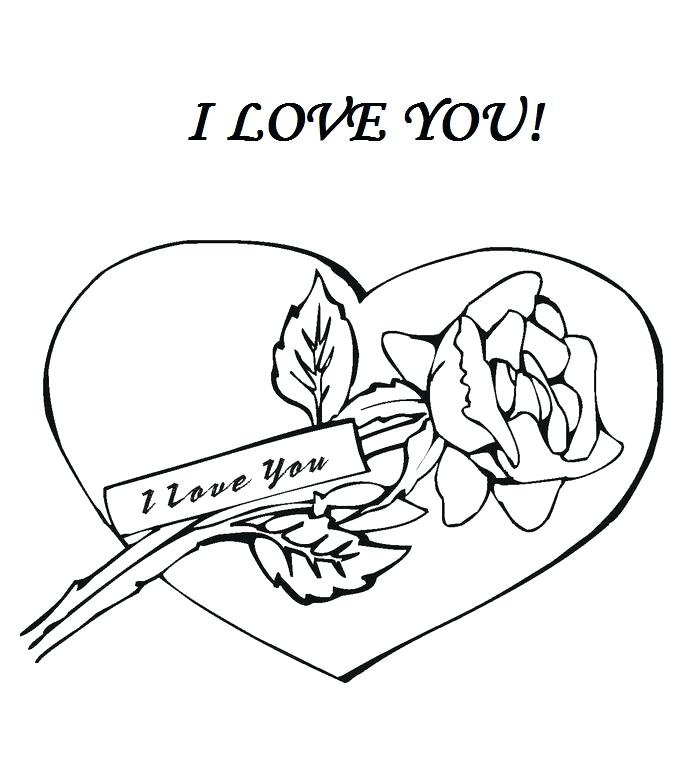 685x774 I Love You Color Pages I Love You Coloring Sheets I Love You