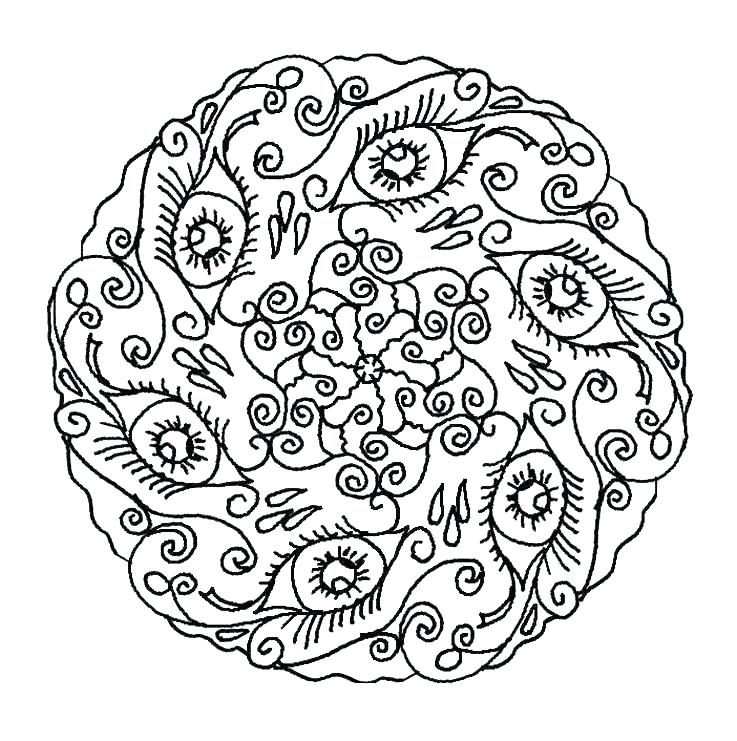 737x741 Easy Mandala Coloring Pages Easy Mandala Coloring Pages With Easy