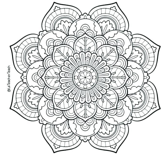 Free Mandala Coloring Pages Animals At GetDrawings Free Download