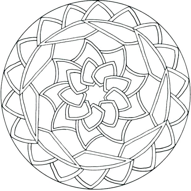 618x618 Free Mandala Coloring Pages Pdf Easy Color Page Regarding