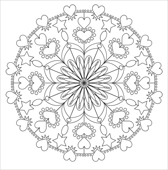 585x590 Mandala Coloring Pages Free Word, Pdf, Png Format
