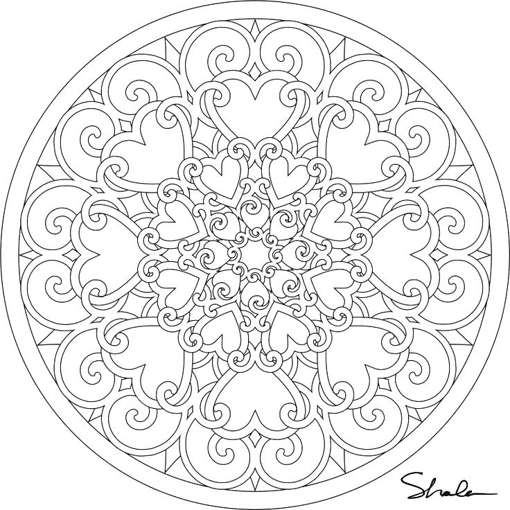 736x736 Mandala Color Pages Mandala Coloring Pages Printable Org Free