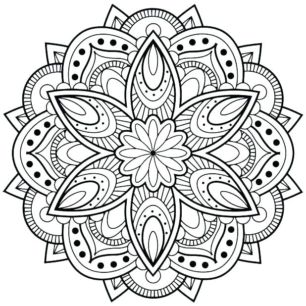 618x618 Mandala Coloring Pages For Adults Free Free Printable Mandala