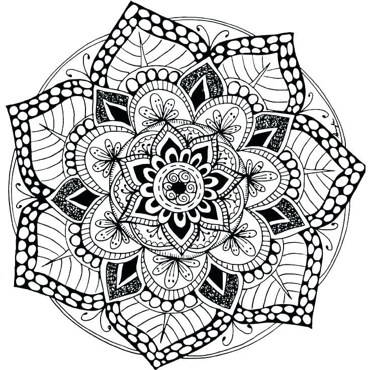 736x736 Mandala Coloring Pages Free Printable Free Printable Mandalas Pdf