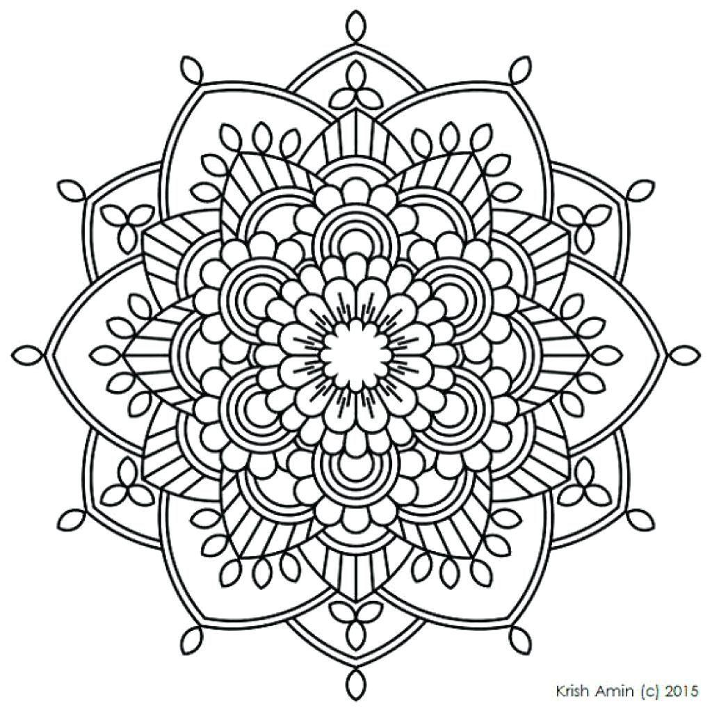 1024x1022 Mandala Coloring Pages Pdf