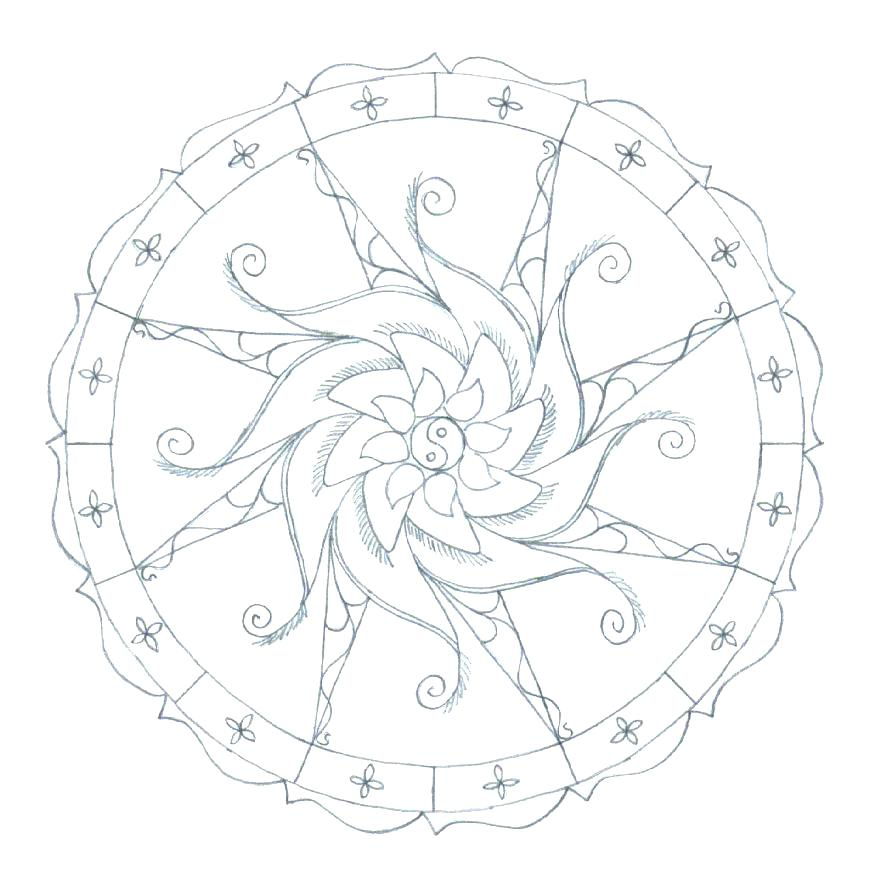 878x880 Cool Mandala Coloring Pages